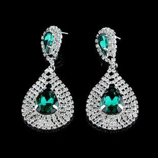 Pendientes de venta caliente de moda grandes pendientes de diamantes en forma de gota al por mayor nihaojewelry NHNZ231834's discount tags