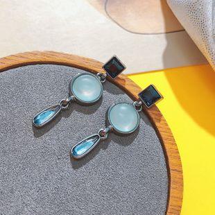 Nueva joyería popular de Corea retro geométrica pendientes pendientes de gota de agua al por mayor nihaojewelry NHPF231837's discount tags