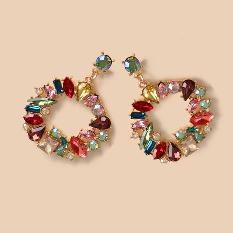 boucles d'oreilles mode créatif alliage géométrique boucles d'oreilles en gros nihaojewelry NHJJ231857's discount tags