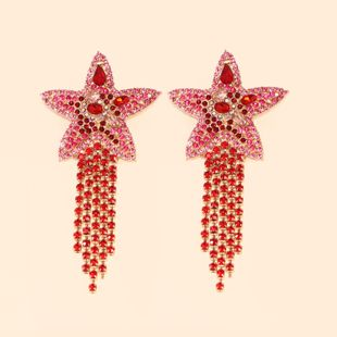 hot sale fashion new starfish star tassel earrings jewelry wholesale nihaojewelry NHJJ231858's discount tags