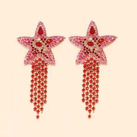 Venta caliente moda nueva estrella de mar estrella borla pendientes joyería al por mayor nihaojewelry NHJJ231858's discount tags