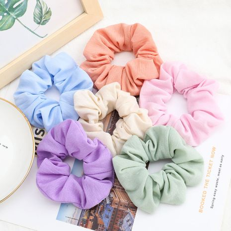 Korea fashion solid color fabric Korean hair ring  hair bowel ring head rope headdress wholesale nihaojewelry NHJE231864's discount tags
