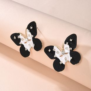 hot selling diamond bow bow earrings new jewelry fashion earrings wholesale nihaojewelry NHMD231886's discount tags