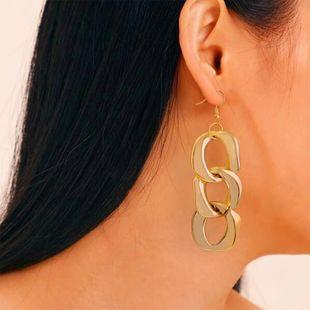 Pendientes de moda simple aleación de viento frío entrelazado pendientes de metal de múltiples capas al por mayor nihaojewelry NHMD231893's discount tags