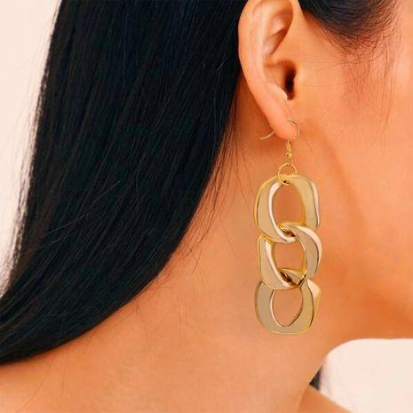 boucles d'oreilles de mode simple vent froid alliage verrouillage multi-couche boucles d'oreilles en métal en gros nihaojewelry NHMD231893's discount tags