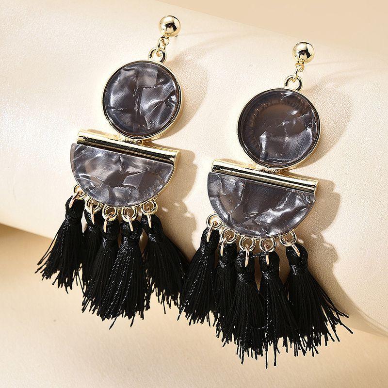 hot sale long acrylic tassel earrings fashion ear jewelry earrings gift wholesale nihaojewelry NHMD231894