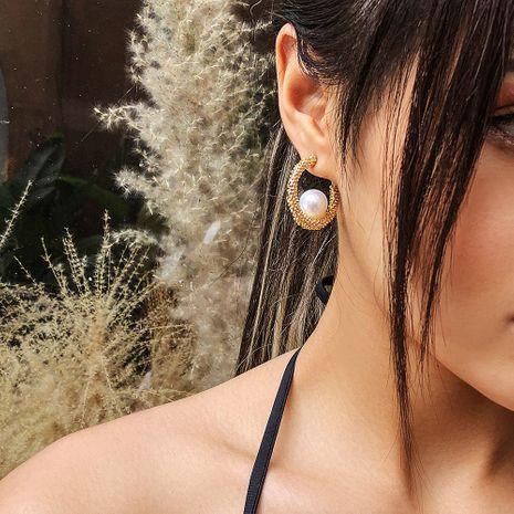 vente chaude mode coréenne simple boucles d'oreilles en perles en gros nihaojewelry NHMD231895's discount tags