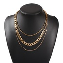 hot sale geometric multilayer alloy necklace clavicle chain wholesale nihaojewelry NHMD231898