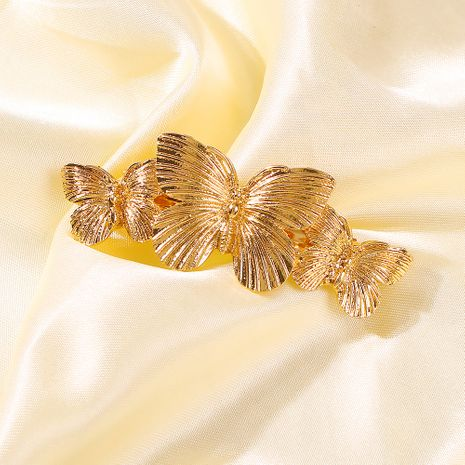 fashion exaggerated texture hairpin size butterfly multilayer flower creative alloy earrings wholesale nihaojewelry NHMD231902's discount tags