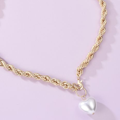 thick chain Baroque pearl necklace bracelet set frosty jewelry wholesale nihaojewelry NHMD231906's discount tags