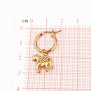 popular cute unicorn pendant ear ring creative threedimensional animal with dangle earrings ear buckle wholesale nihaojewelry NHGO231915