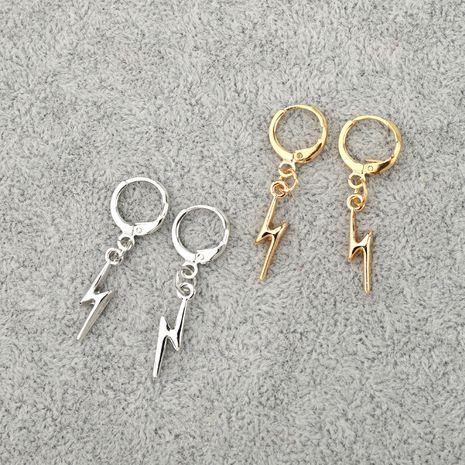 nouveaux bijoux punk rock simple petites boucles d'oreilles foudre boucle d'oreille vente chaude en gros nihaojewelry NHGO231939's discount tags