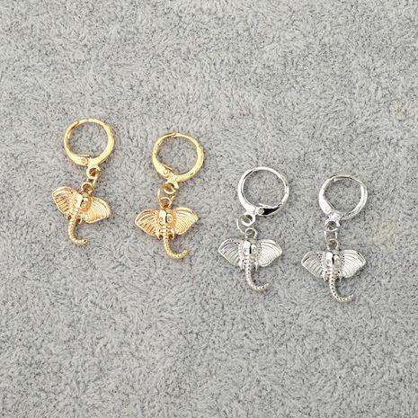 vente chaude boucles d'oreilles tendance punk mignon éléphant boucles d'oreilles animal bague d'oreille en gros nihaojewelry NHGO231942's discount tags