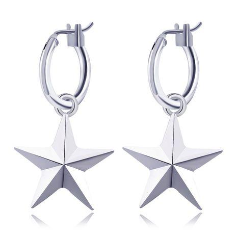 boucles d'oreilles chaudes tendance simple en trois dimensions boucles d'oreilles étoiles à cinq branches étoiles boucles d'oreilles géométriques en gros nihaojewelry NHGO231943's discount tags