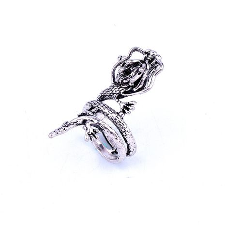 fashion jewelry punk retro dragon metal ring ancient silver animal ring hot sale wholesale nihaojewelry NHGO231944's discount tags