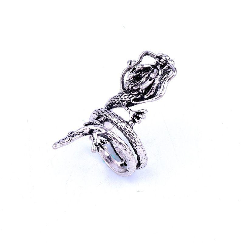 fashion jewelry punk retro dragon metal ring ancient silver animal ring hot sale wholesale nihaojewelry NHGO231944