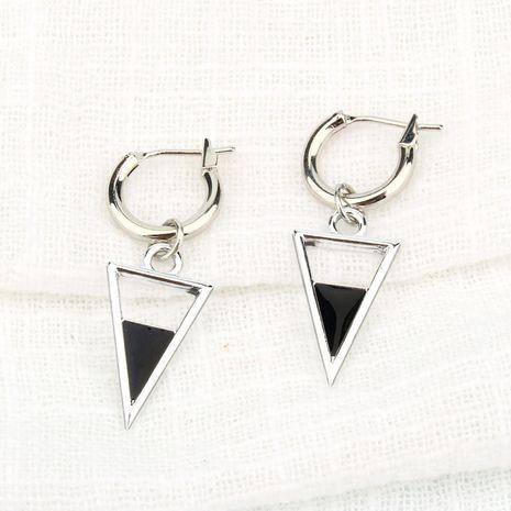 creux triangle noir pendentif cercle boucles d'oreilles ceinture géométrique anneau d'oreille boucle d'oreille en gros nihaojewelry NHGO231952's discount tags