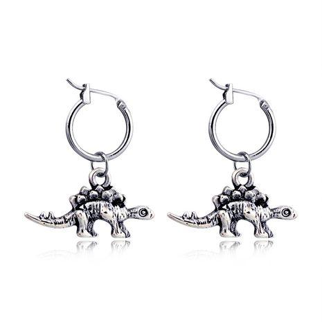 boucles d'oreilles rétro punk en trois dimensions dinosaure animal alliage pendentif anneau d'oreille boucle d'oreille neutre en gros nihaojewelry NHGO231954's discount tags