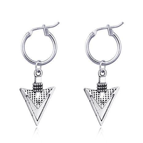 rétro punk antique argent triangle pendentif anneau d'oreille style national boucles d'oreilles en gros nihaojewelry NHGO231959's discount tags