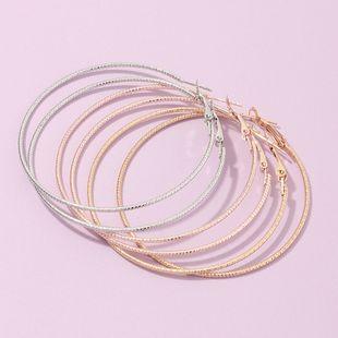 Joya de moda anillo de oreja grande joyería de oreja exagerada geométrica arete redondo conjunto al por mayor nihaojewelry NHNZ232030's discount tags