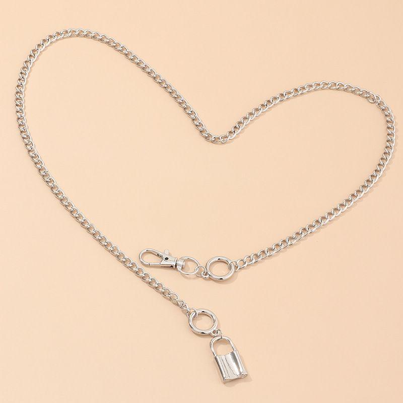 fashion jewelry trend cool girl choker neck chain lock pendant necklace wholesale nihaojewelry NHNZ232039