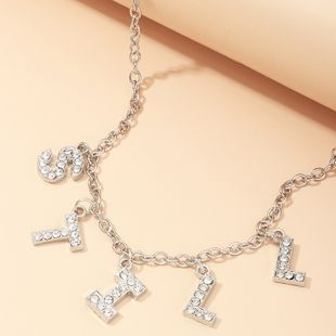 fashion jewelry popular English alphabet 'STILL' necklace wholesale nihaojewelry NHNZ232040's discount tags