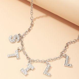 joyería de moda popular alfabeto inglés 'TODAVÍA' collar al por mayor nihaojewelry NHNZ232040's discount tags