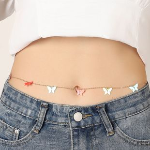 fashion jewelry creative sequins butterfly waist chain simple wild beach sexy body chain wholesale nihaojewelry NHNZ232043's discount tags