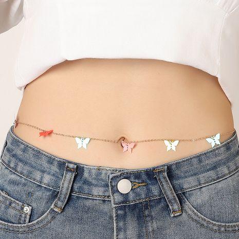joyería de moda lentejuelas creativas mariposa cintura cadena simple salvaje playa sexy cuerpo cadena venta al por mayor nihaojewelry NHNZ232043's discount tags