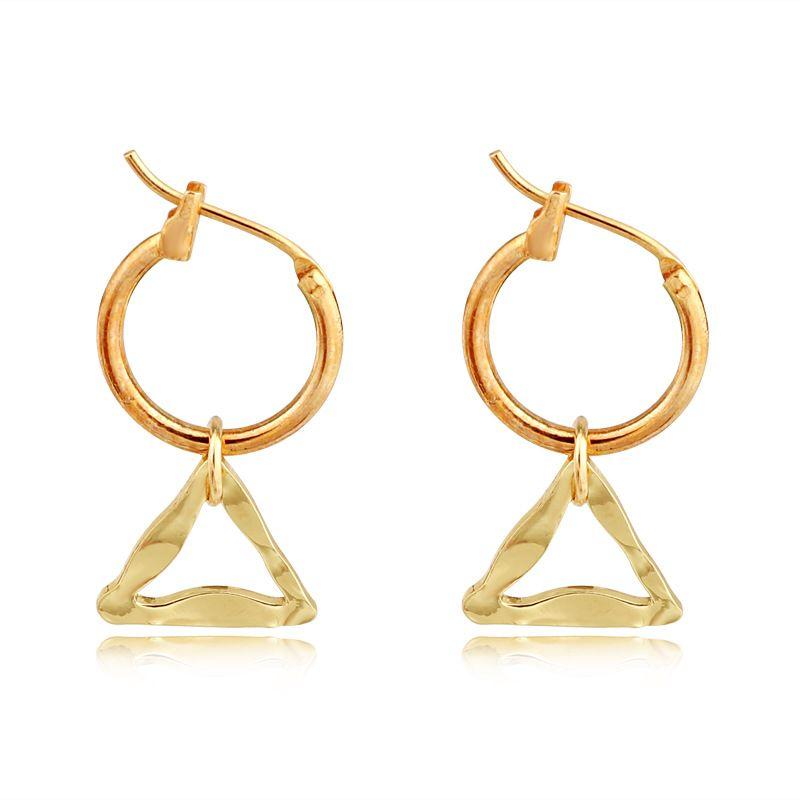 geometric hoop earrings simple irregular hollow triangle pendant ear ring ear buckle wholesale nihaojewelry NHGO232052
