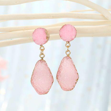 fashion jewelry imitation crystal bud wine bottle earrings imitation natural stone earrings long trapezoid earrings wholesale nihaojewelry NHGO232059's discount tags