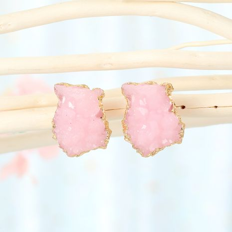 new imitation crystal bud irregular earrings geometric imitation natural stone earrings resin earrings wholesale nihaojewelry NHGO232060's discount tags