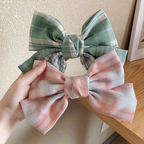 fabric big bow hairpin Korean headdress girl super fairy back hairpin wholesale nihaojewelry NHOF232063's discount tags