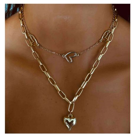 fashion style simple jewelry fashion love pendant necklace wholesale nihaojewelry NHCT232084's discount tags