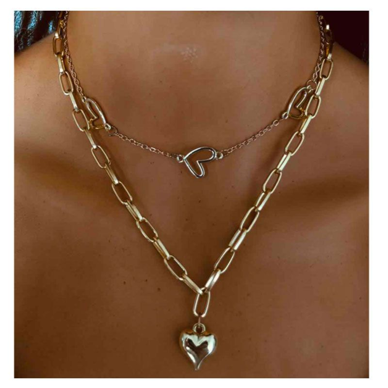 fashion style simple jewelry fashion love pendant necklace wholesale nihaojewelry NHCT232084