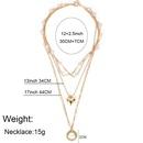 simple fashion alloy circle wild imitation pearl pendant necklace  wholesale nihaojewelry NHCT232089