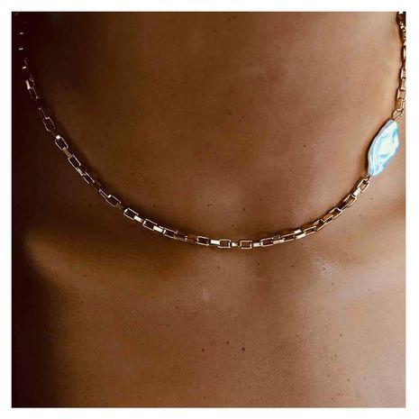 moda bohemia collar corto párrafo en forma de imitación perla colgante cadena de clavícula venta al por mayor nihaojewelry NHCT232093's discount tags