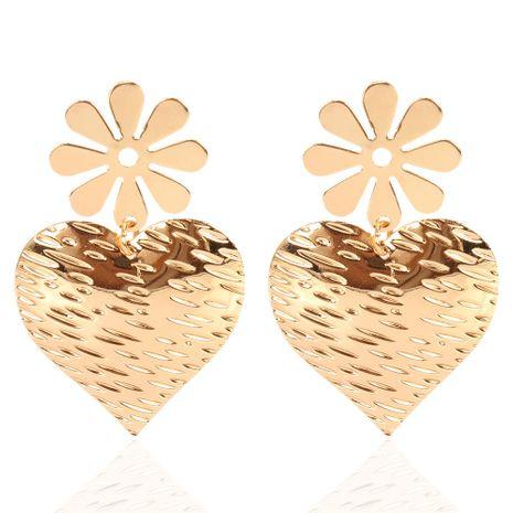 nueva aleación retro flor amor pendientes simples pendientes venta al por mayor nihaojewelry NHCT232096's discount tags