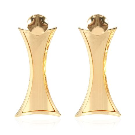 Pendientes geométricos de metal de estilo de moda pendientes simples al por mayor nihaojewelry NHCT232097's discount tags
