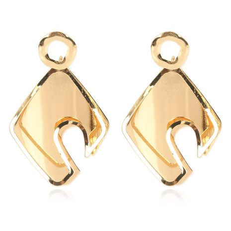 new retro style alloy geometric golden earrings wholesale nihaojewelry NHCT232100's discount tags