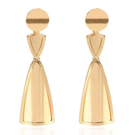 fashion exaggerated golden earrings simple wild earrings  wholesale nihaojewelry NHCT232102's discount tags