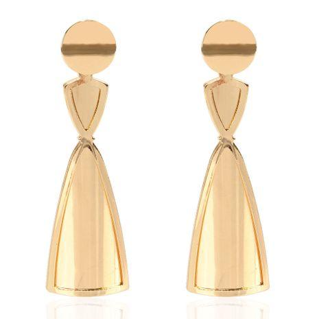 boucles d'oreilles dorées exagérées de mode simples boucles d'oreilles sauvages en gros nihaojewelry NHCT232102's discount tags