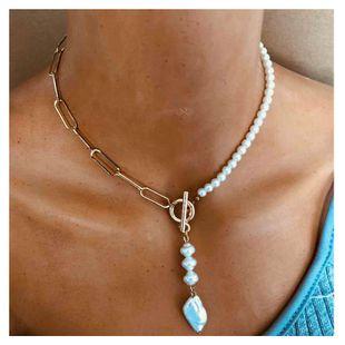 collar colgante de resina de cadena cuadrada de metal de joyería popular al por mayor nihaojewelry NHCT232103's discount tags