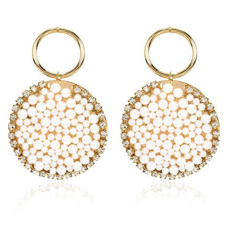 pendientes de perlas de estilo de moda pendientes de perlas de imitación de estilo étnico bohemio al por mayor nihaojewelry NHCT232105's discount tags