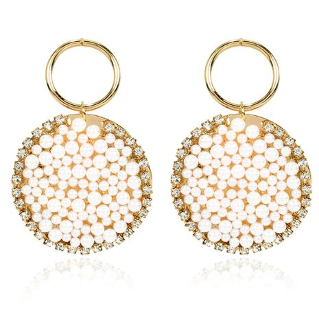 fashion style pearl earrings Bohemian ethnic style imitation pearl earrings wholesale nihaojewelry NHCT232105's discount tags