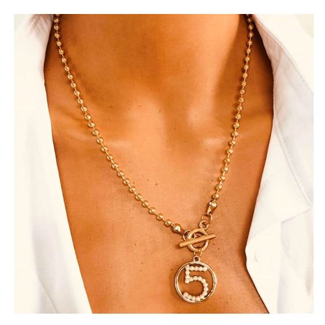 fashion wild alloy five-character pendant clavicle chain simple micro diamond necklace wholesale nihaojewelry NHCT232106's discount tags