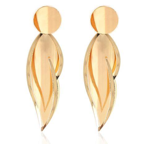 pendientes de oro de hoja de aleación pendientes retro simples salvajes al por mayor nihaojewelry NHCT232107's discount tags