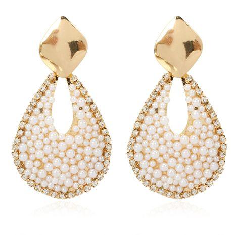 Pendientes bohemios pendientes de perlas hechas a mano de moda gota de agua al por mayor nihaojewelry NHCT232110's discount tags