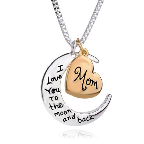 hot sale popular jewelry love pendant i love you mom sweater chain necklace wholesale nihaojewelry NHCU232139's discount tags