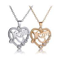 vente chaude tendances de la mode nouvelle fête des mères MOM mère amour creux collier en gros nihaojewelry NHCU232149